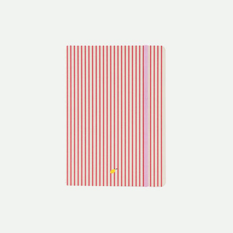 Sticky Lemon Notebook Stripes Red