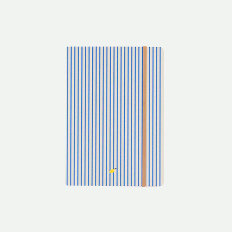 Sticky Lemon Notebook Stripes Blue