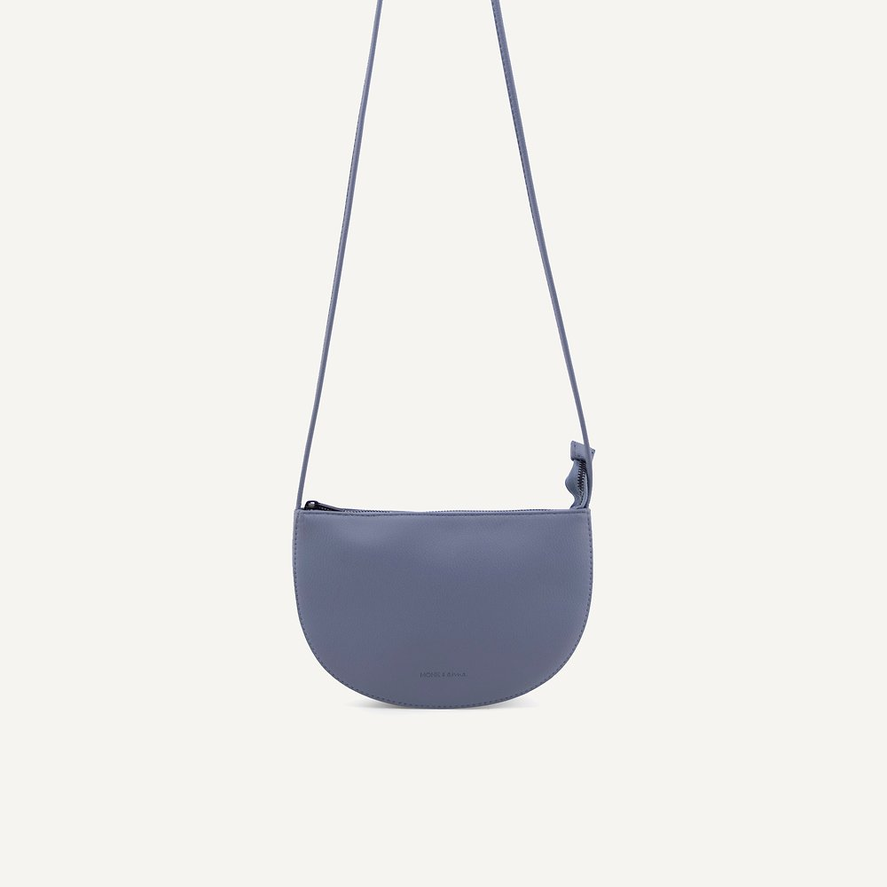 Farou half moon bag faded blue | Monk and Anna