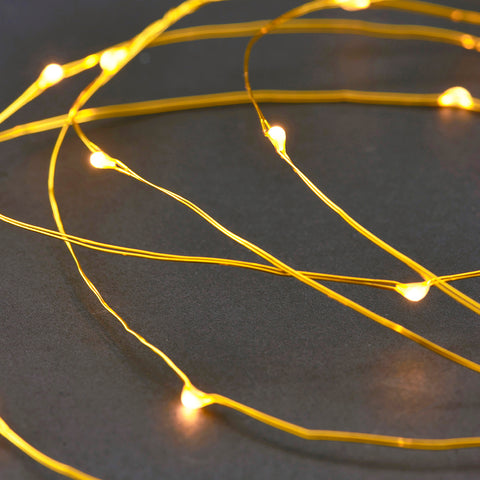 Lichterkette String Lights Brass gold