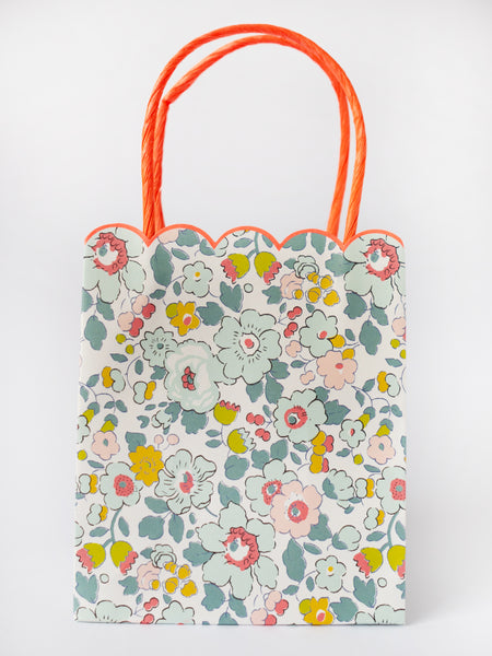meri meri Party Bag *Liberty* Blumen Papiertasche