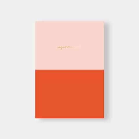 Notebook DIN A5 - Colorblock Rose/Red, Vergiss Dich nicht