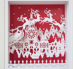 Framed 3D Christmas Reindeer Art
