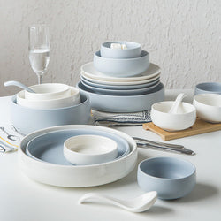 Blue and White Porcelain Dinner Set