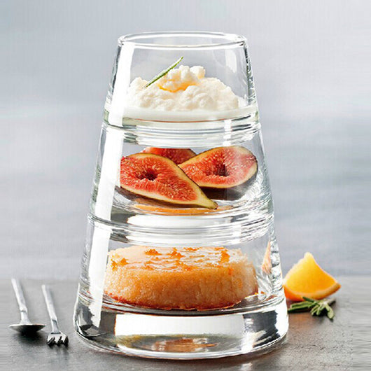 Glass Pyramid Stackable Bowls