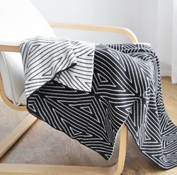 Black and White Patterned Quilt