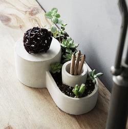 Cement Planter Paperweight