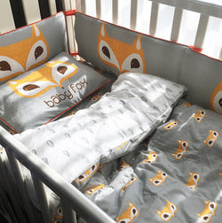 Friendly Fox Crib Bedding Set