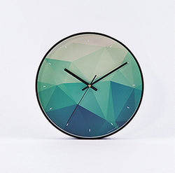 Sea Green Geometric Wall Clock