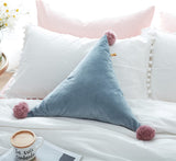 Triangle Pom Pom Cushion
