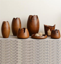 Mango Wood Crafted Pots