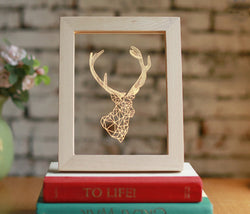 Framed Regal Deer Light Up Art