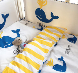 Blue Whale Crib Bedding Set