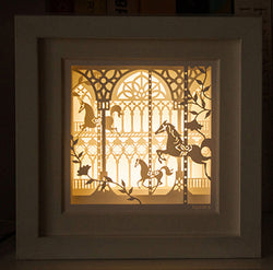 Framed Light Up Paper Cut Outs