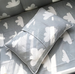 Gray Cloudy Crib Bedding Set