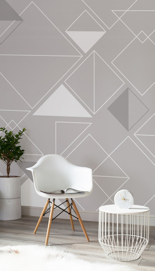 Classic Gray Triangle Wall Mural