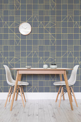 Nonagon Classic Triangles Wall Mural