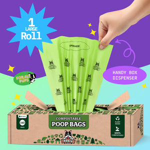 Pogi's Plant-Based Compostable Grab & Go Dog Poop Bags