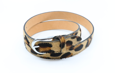 ALB Real Leather Leopard Belt