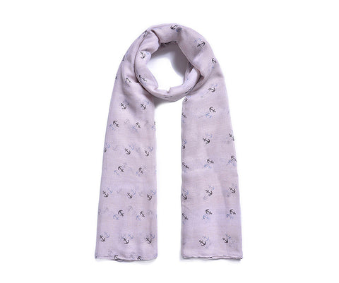 ALB Grey Anchor Scarf