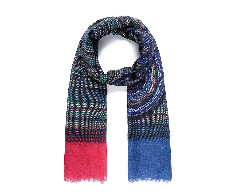 ALB Blue Red Swirl Scarf