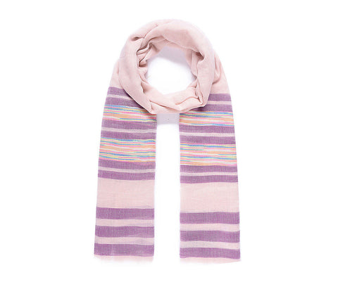 ALB Pink Purple Stripe Scarf