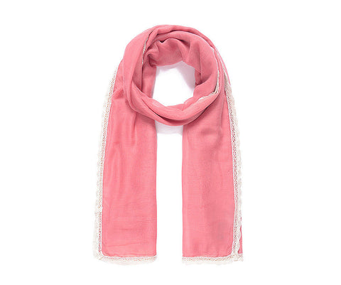 ALB Pink Lace Edged Scarf