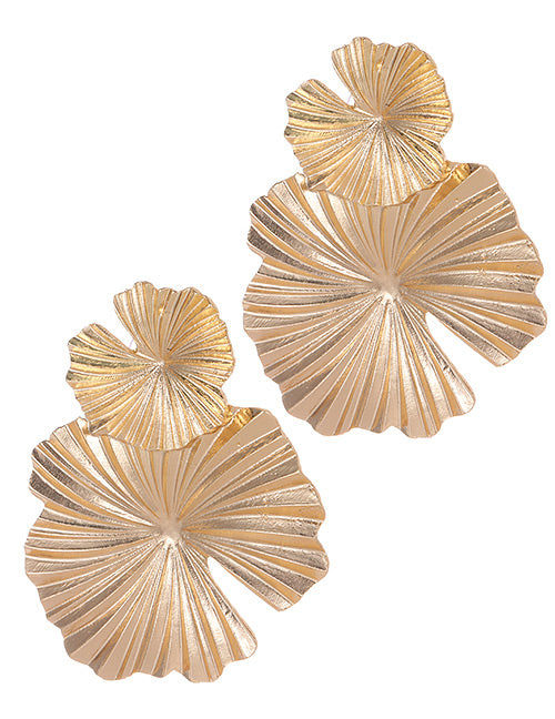 ALB Gold Flower Double Earrings