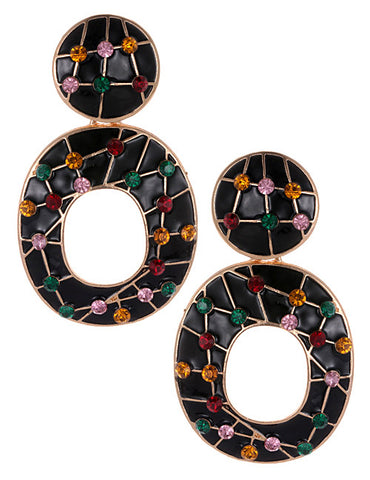ALB Jewel Black Abstract Earrings