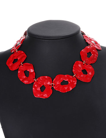 ALB Irregular Red Necklace