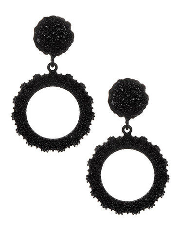 ALB Black Circle Earrings