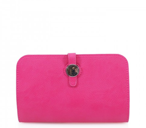 Pink Silver Button Purse with Card Holder