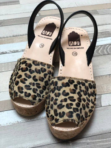 Leopard Chita Animal Cork Wedge ALBies Range