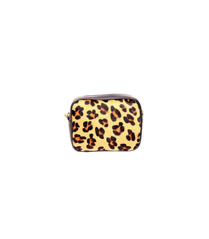 ALB Leopard Pony Hair Leather Cross Body Bag