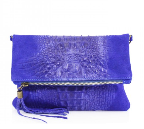ALB Cobalt Blue Snakeskin Leather Body Bag