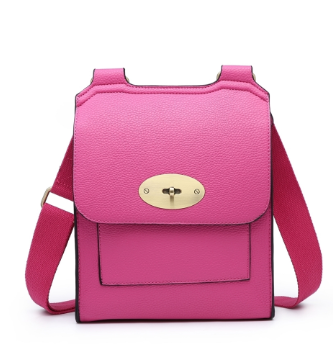 ALB Fuchsia Buckle Padlock Cross Body Bags