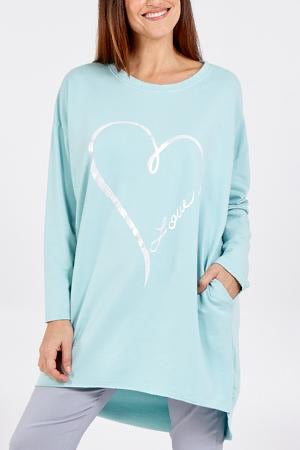 ALB Mint Silver Heart Oversized Jumper