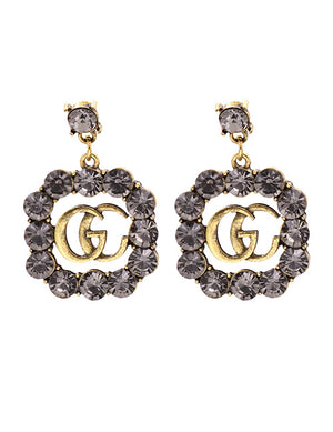 ALB Grey G Jewelled Earrings