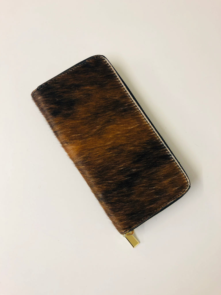 ALB Cowhide Pony Hair Large Purse