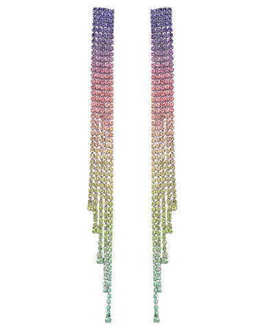 Rainbow Crystal Drop Earrings