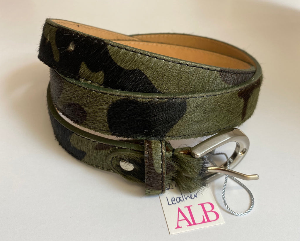 ALB Real Leather Camo Belt