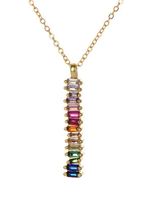 ALB Gold Rainbow Jewelled Necklace