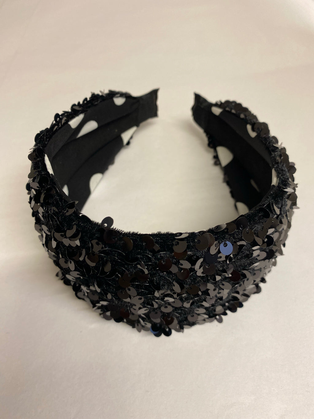 ALB Black Wide Sequin Headband