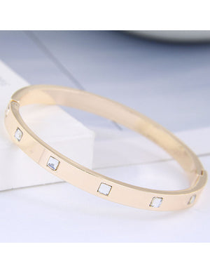 ALB Gold Diamond Bangle Bracelet