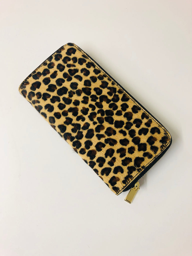 ALB Cheetah Pony Hair Large Purse