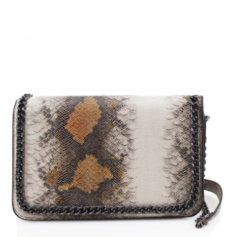 ALB Brown Snakeskin Chain Handbag