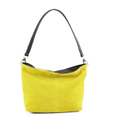 ALB Yellow Real Suede Grab Bag