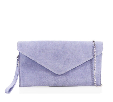 ALB Lilac Real Suede Clutch Bag