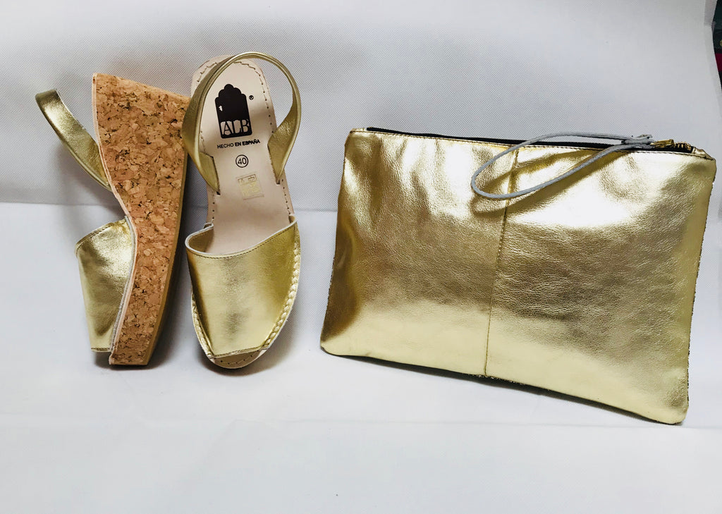 Gold Metallic Cork Wedge ALBies Range