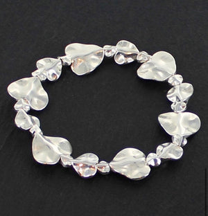 ALB Silver Plated Big Little Heart Bracelet
